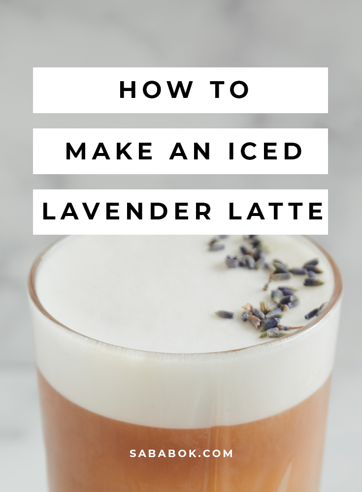 lavender latte, How to Make an Iced Lavender Latte at Home